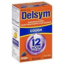 Delsym 12 Hour Cough Relief Grape 3 oz Each