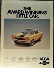 1973 Chevrolet Vega Brochure GT Hatchback Kammback Wagon Excellent Original 73