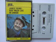JAMES YOUNG - VERY MUCH LIVE IN CANADA CASSETTE, 1971 EMERALD, TESTED ULTRA RARE