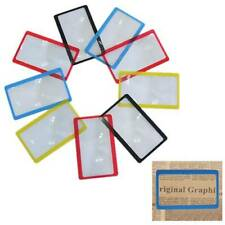 5x Credit Card Pocket Size 3X Magnifier Reading Magnifying Glass Lens Magnifier