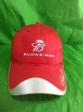 Dale Jr hat Budweiser Beer Red Silver Winners Circle Strapback Cap