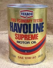 Vintage Texaco Havoline Quart Motor Oil Can Unopened Full Can Made in USA