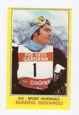 figurina PANINI CAMPIONI DELLO SPORT 1970-71 Numero 313 SPORT INVERNALI GIOVANOL