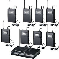 Pro UHF 6 Ch Wireless In Ear Headphone Stage Monitor System with many Receiver