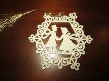 Lenox Victorian Skater Christmas Ornament