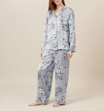 Hobbs Silk Bloom Print Pyjamas Set, loungewear&sleep in grey, UK size XS £149