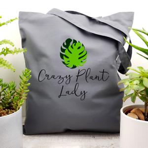 Monstera Deliciosa Crazy Plant Lady Cotton Tote Bag Houseplant Lover Gift Idea
