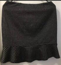 Laundry Shelli Segal Houndstooth Grey Mini Frill Skirt nwot 6