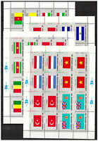 S27027) United Nations ( Ny) 1980 MNH New Flags 16v ( Ms x4)