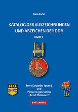 Katalog der Auszeichnungen und Abzeichen der DDR Pionierorganisation FDJ Buch 1