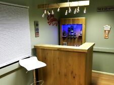 Home Bar with optics and lights - Oak bar - Man Cave, Log Cabin,Drinks Party 101