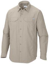 Columbia Herren Outdoorhemd Funktionshemd Hemd langarm beige uni Gr. XXXL 62 NEU