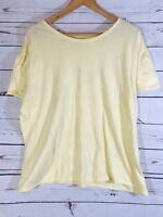 Blue Damsel by Cabelas Womens Work T Tee Shirt Size XL Yellow Top Stretch Ladies