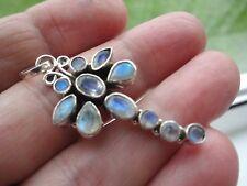 Favolosi Nouveau Stile Sterling Argento & Blu Pietra di Luna Ciondolo Libellula