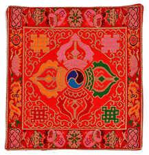 Altardecke buddhistisch Brokat rot 21x21 cm Vishvadorje Design Handarbeit