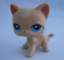Littlest Pet Shop #228 Short Hair Cream Tan Cat Yellow Stripe Blue Eye 2004 Lps