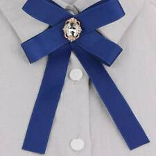 Fashion Fabric Bow Brooches For Women Neck Tie Pins Brooch Clothing Accessories