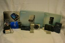Lot of 3 point & shoot cameras - 2 Canon &1 Fuji - see description - Sold As Is!