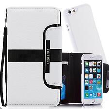Handy Tasche Schutz Hülle Wallet Case Flip Cover Etui für iPhone 5 5s SE Weiss