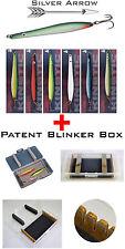 >Meerforellen Blinker Silver Arrow 6 Farben Set + Eisele Patent Blinker Box
