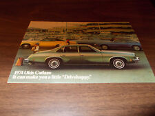 1974 Oldsmobile Cutlass Advertising Postcard