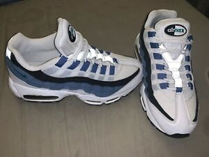 Nike Air Max 95 White Green Blue Slate Black Mens Size 8.5 Rare 609048-102