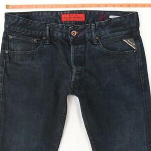 Mens Replay M989 LENRICK Slim Straight Blue Jeans W33 L32