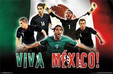 VIVA MEXICO Team Mexico World Cup Soccer POSTER - Corona, Layun, Jimenez, ++