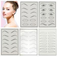 Tattoo Empty Skin Practice Makeup Fake Skin Eyebrow Eye Lip Training 1PCS New