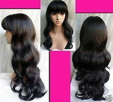 HELLOJF430  Vogue black curly wigs Curlable Layers Hair wigs
