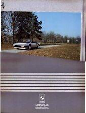 1984 FERRARI MONDIAL CABRIOLET Prestige Large Format Brochure