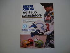 advertising Pubblicità 1985 CASCO BIEFFE e MICHELE RINALDI