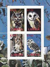(20354) Liberia Owl Minisheet MNH Unmounted mint