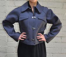 Emporio Armani Grey Buckle Clasp Jacket 40 6 Womens Italy