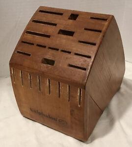 Calphalon 24 Knife Slot Block Wood Storage Organizer (Block Only)