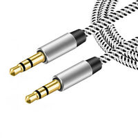 Gold Plated for Speaker Audio Cable Car Aux Cord Male to Male 3.5 mm to 3.5mm