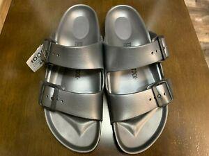 Birkenstock Size 39 8.5 Arizona Eva Dark Metallic Anthracite Shade Sandals Shoes