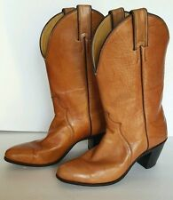 "Justin Western Cowboy Boots Cognac Brown Women Size 7B Style L 4417 2.5 "" hill"