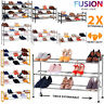 Extendable Shoe Rack Storage Stand Shelf Shoes Organiser Compact 2 3 4 Tier