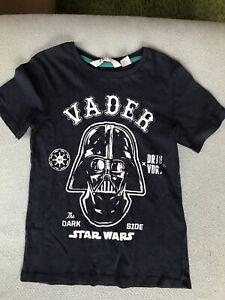 Navy H&M Star Wars T-shirt 6-8 Years
