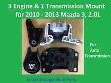 3 Engine Mount & 1 Transmission Mount for 2010-2013 Mazda 3, 2.0L auto transmiss