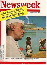 1956 Newsweek March 12-Marilyn Monroe fined for no license; W A Criswell Dallas