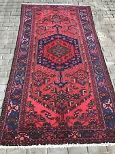 Antique Vintage P Hamadan Hand Knotted Rug 8 X 4.6