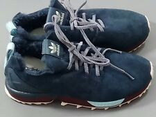 Adidas Ladies ZX Flux Shearling Blue Fur Trainers Torsion Boots Size 5.5 UK