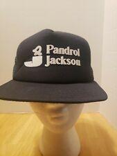 Pandrol Jackson Trucker Mesh Snapback Vtg Black Blue Hat RR Train USA New Era
