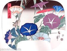 SPLENDIDA STAMPA GIAPPONESE CARTA DI RISO DI HIROSHIGE UTAGAWA MORNING GLORIES