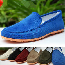 10 Color Men's Fashion Kung Fu Tai Chi Cloth Shoes Casual Driving Slippers