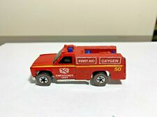1974 Hot Wheels Redline Emergency First Aid Oxygen Unit truck (Su6)