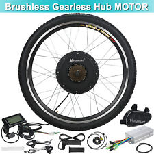 Electric Bicycle Kit 48V 1000W Rear Wheel E Bike Motor Conversion Hub LCD Meter