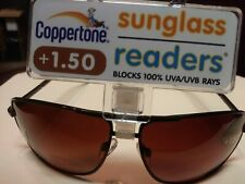 NEW!! Unisex +1.50 Coppertone Sunglass Readers AR Invisible Bi-Focal - FAST SHIP